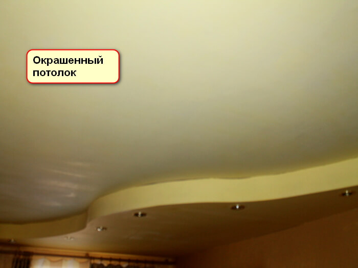 Подготовить потолок к оклеиванию обоями