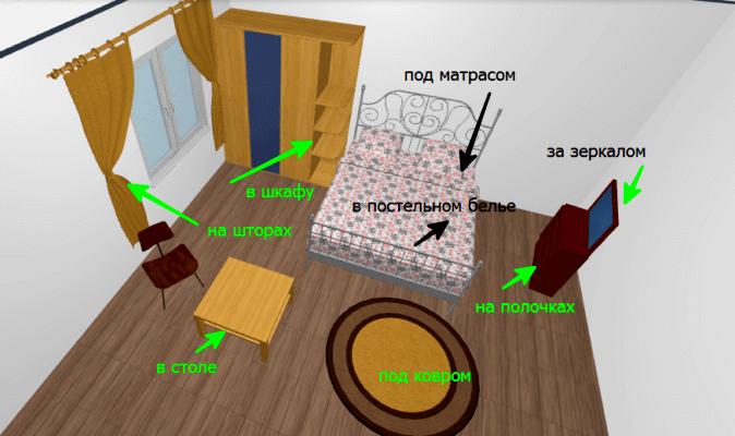 Где живут постельные клопы в квартире