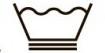 Знак тазик с водой три волны