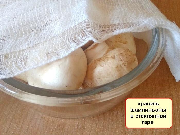 Сколько шампиньоны могут храниться в холодильнике